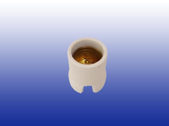 Soquete em Porcelana RCA E27 com presilha - borne